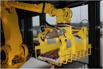 Polyarticulated robot for bags